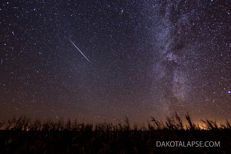 Meteor and Fall Milky Way