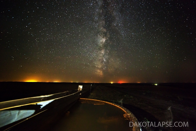 Racoon and Milky Way