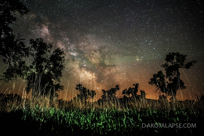Milky Way rise on White River in SD