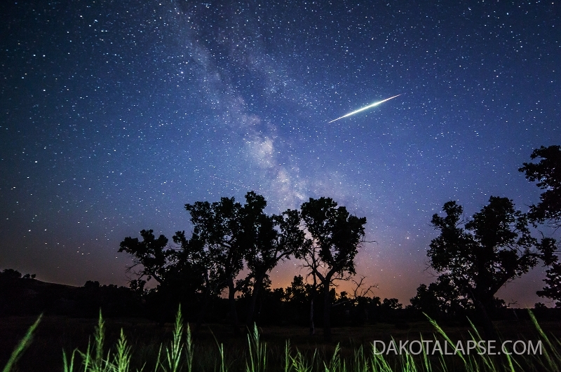 Meteor and Cottonwood Trees