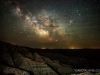 Badlands Milky Way rise