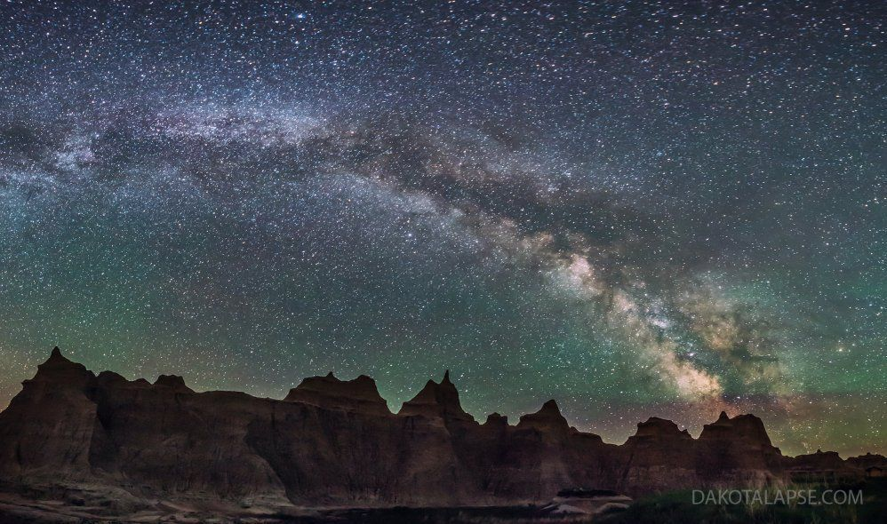 Badlands Milky Way Panorama