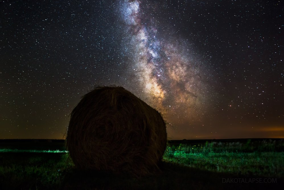 Round Bale and Milky Way