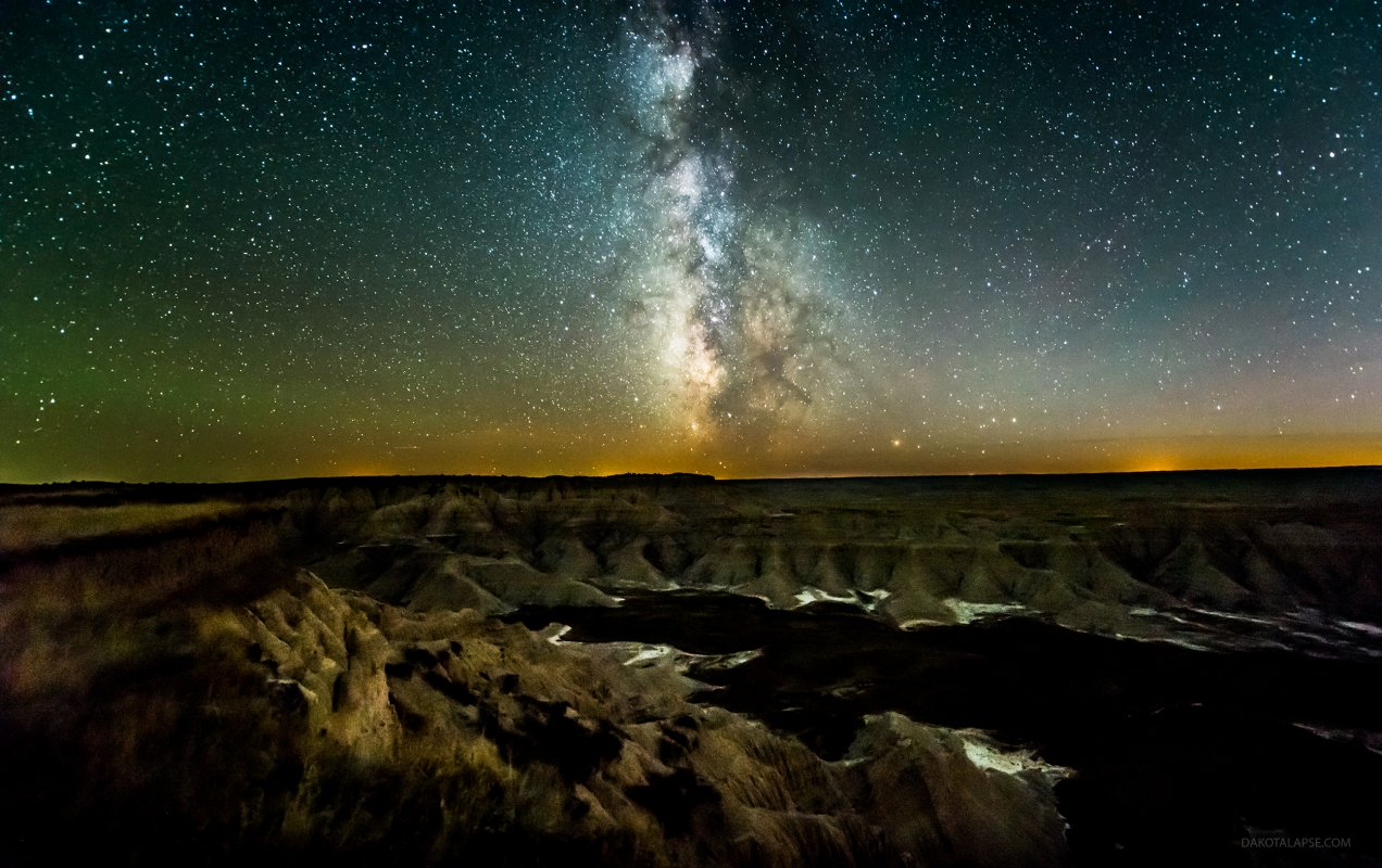 Badlands, South Dakota Milky Way