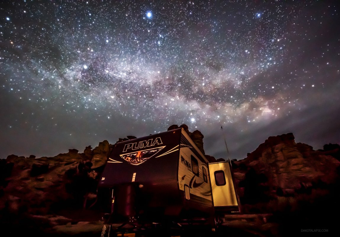 Wyoming Milky Way with Puma Camper