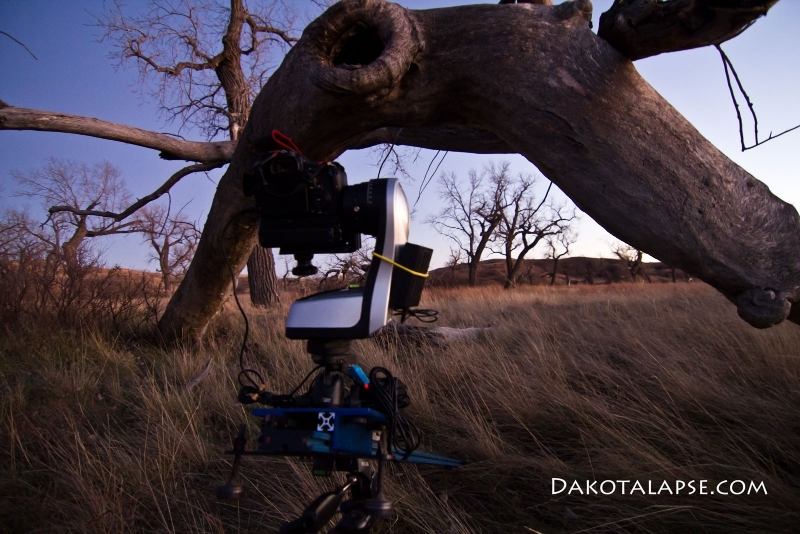 Stage Zero Dolly setup with Merlin head in South Dakota