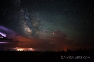 July storm and Milky Way in central South Dakota