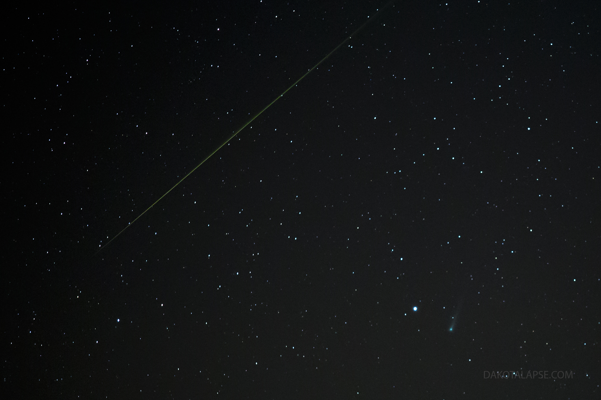 Comet Ison and Meteor 11-7-13