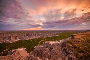 Sunset in Badlands National Park