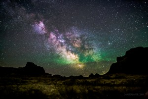 Badlands National Park Milky Way and Airglow