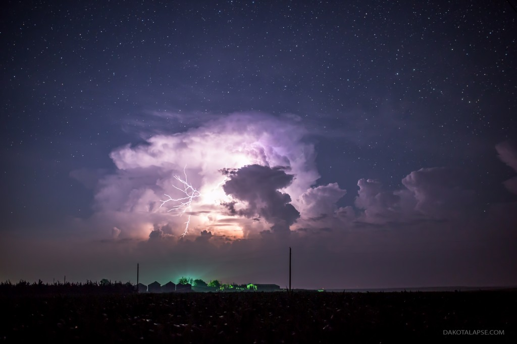 Storm over Farm time lapse frame 4K