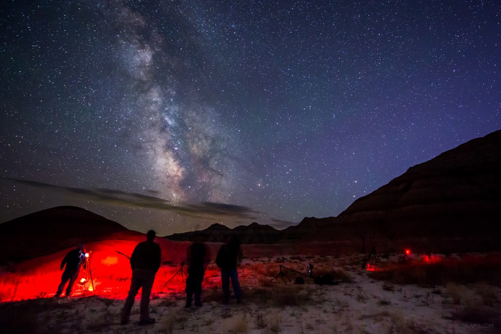 August 2014 Badlands Workshop group shooting timelapse of the Milky Way in the Badlands.