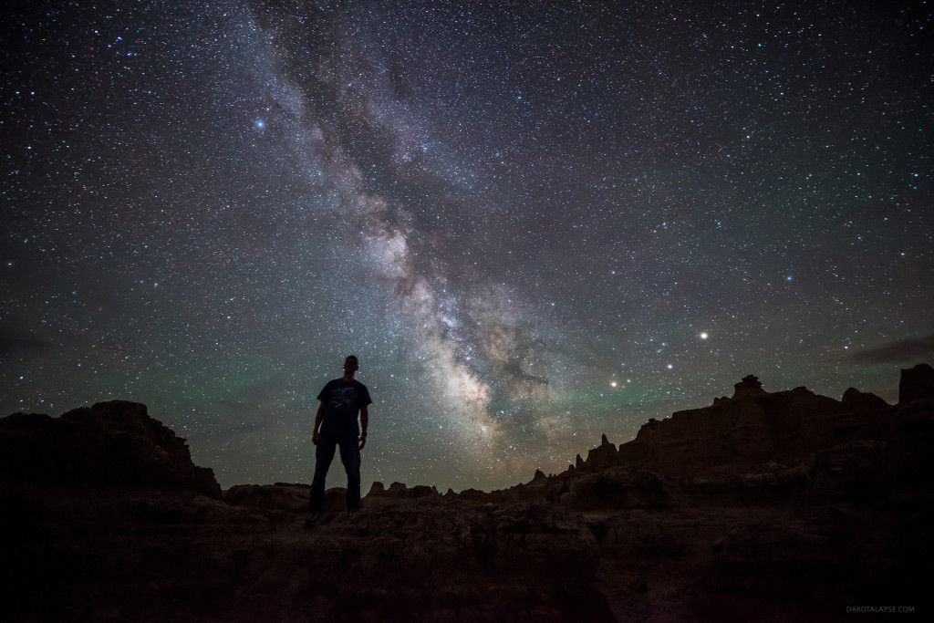 2015 private workshop Badlands Milky Way. Dark sky timelapse workshop